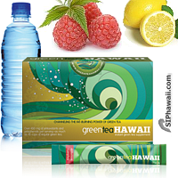 Green Tea Hawaii Raspberry Lemonade drink mix is a specially formulated Green Tea and Noni concentrate loaded with powerful antioxidants, aiding health and weight loss. ADD to water, SHAKE and ENJOY! Available in 3 Great Flavors packed in a handy single serve rip stick sachet for at home, the office, beach and on the go. Belongs in every standby emergency bag. Research supports the of green tea and noni concentrate for a wide variety of health reasons including reducing bad cholesterol. Box 12 Count.