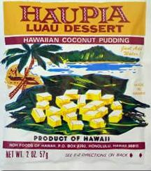 Haupia Luau Dessert - Hawaiian Coconut Pudding - Made in Hawaii - Just add water