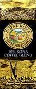 Royal Kona Coffee - Mountain Roast - 10% Kona cofee blend - Medium roast.