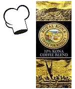 Royal Kona Coffee. 10% Kona Arabica Gourmet coffee blends. Regular, Flavors, Decaf.
