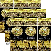 Royal Kona Coffee blends, Unflavored, Tropical flavors, Chef's Signatures series and European style roasts. Mix and Match a 9 Pack.