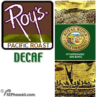 Roy Yamaguchi's custom Pacific Roast as served in Roy's award winning restaurants. A DECAFFEINATED MEDIUM DARK roast, 10% Kona Blend with vibrant flavor and rich, full-bodied character.