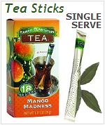 Hawaiian Plantation Tea Sticks Single Serve, All Natural Tropical Flavored Tea Wands.