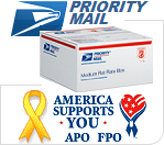 Fill up a priority mail flat rate box. If it fits it ships. We are proud to have the lowest shipping rates from Hawaii. America Supports You. Our Military Women and Men. USPS AP FPO Shipping. With SIPhawaii Pay only $14.45.